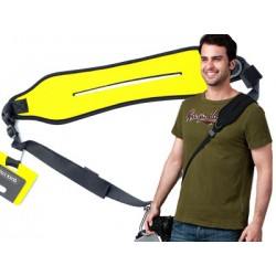 Pasek naramienny  do aparatów QUICK STRAP yellow
