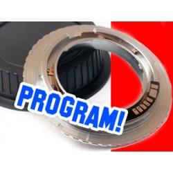 Adapter EXAKTA EXA na CANON potwierdzenie  AF programowalny EMF