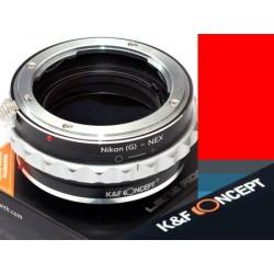 Adapter Nikon(G) na NEX E-MOUNT K&F CONCEPT